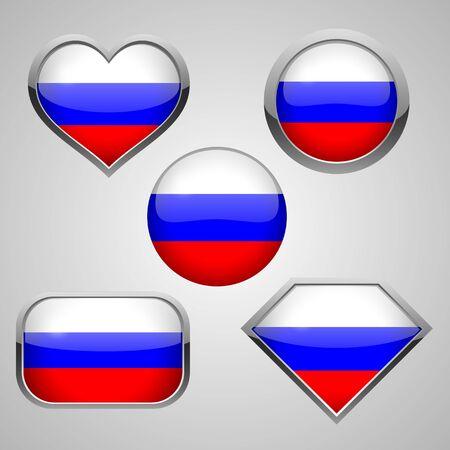soviet flag: Russia flag icons theme. vector illustration