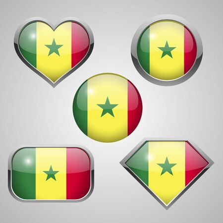 Senegal flag icons theme. vector illustration