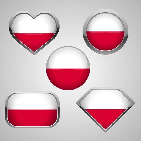 Poland flag icons theme. vector illustration Ilustracja