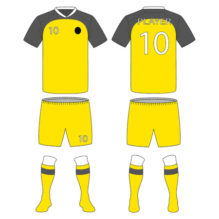 Set of soccer kit or football jersey template for football club. Vector Illustration
