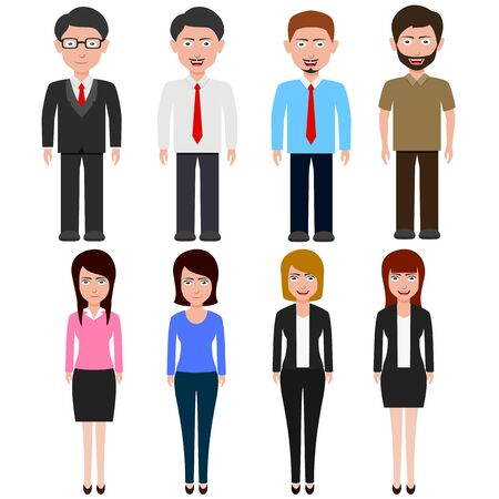 Business People teamwork ,cartoon character. Vector illustration