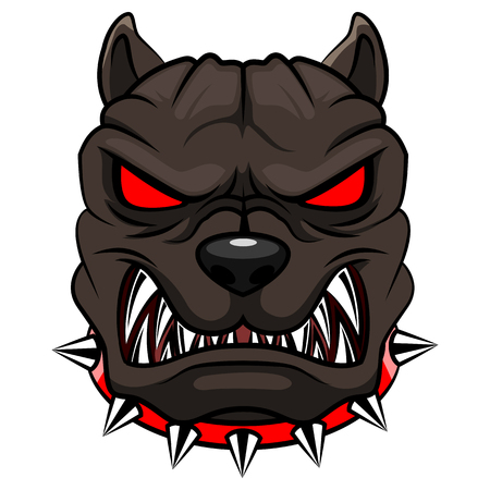 Angry dog mascot cartoon. Vector illustration
