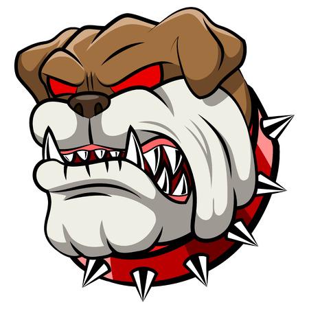 Angry bulldog mascot cartoon. Vector illustration