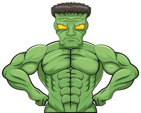 Frankenstein angry cartoon.