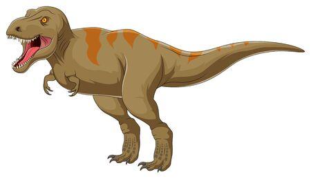 Illustration of angry tyrannosaurus rex
