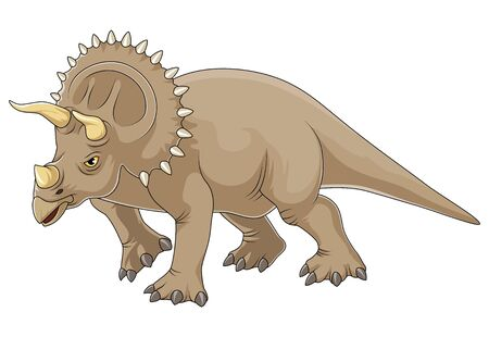 Cartoon triceratops dinosaurs illustration with simple gradients Ilustração