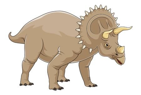 Triceratops Animal illustration mascot