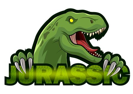 Dinosaur sport mascot design illustration. T-Rex Head mascot sports logo.