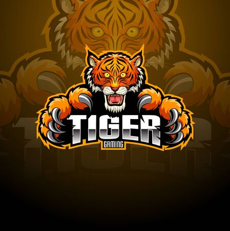 Tiger head mascot e-sport  design