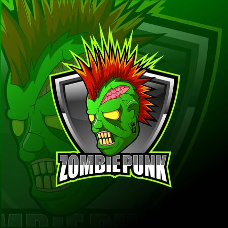 Monster zombie logo esport design illustrator