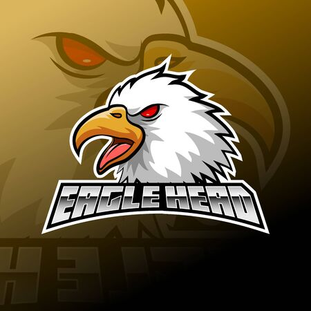Eagle head logo esport design illustrator