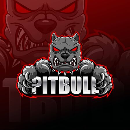Pitbull logo esport design illustrator