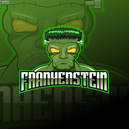 Monsterfrankenstein logo esport design illustrator