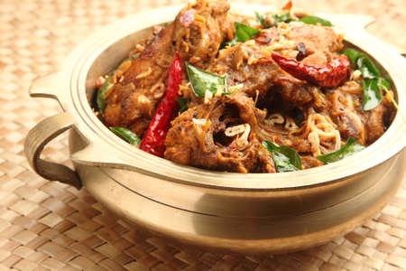 traditionally indian: Traditionally served Indian chicken curry
