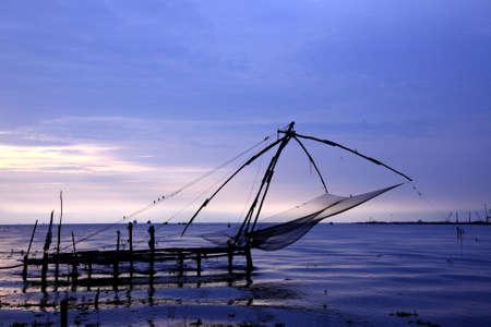 Chinese fishing nets of Kerala, India. photo