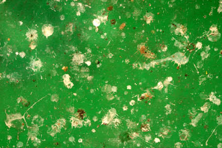 excreta: Abstract green metal surface with white patches Stock Photo