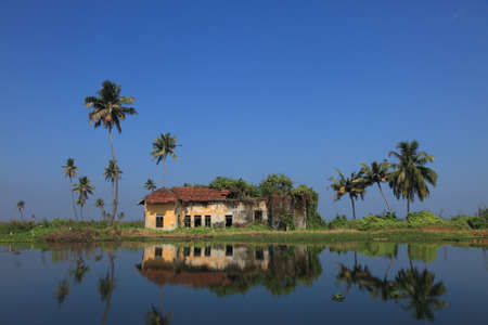 alleppey: A ruined isolated house in a beautiful location Stock Photo