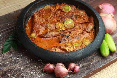 kerala: Traditional style Kerala fish curry