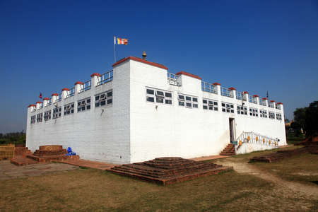 vihar: Maya Devi temple, the birth place of Gautama Buddha, in Lumbini, Nepal.