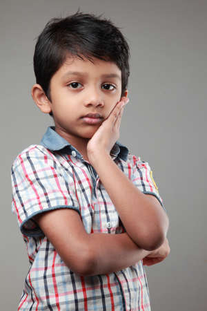 indian fair: Boy with a sad face