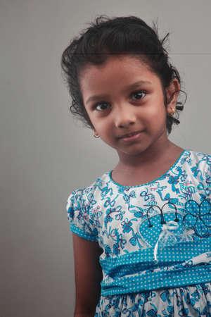 fille indienne: Portrait d'une fillette indienne