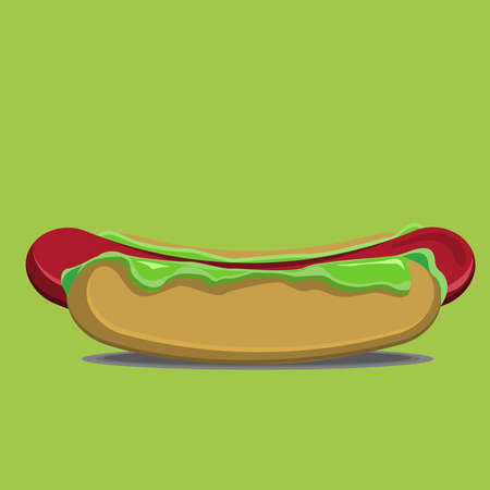 this is vector illustration of the delisious hotdog, this illustration good for sticker or complement for food theme design. 일러스트