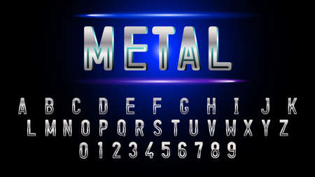 metal texture fonts and numbers.