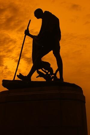 Statue of Mahatma Ghandi  photo