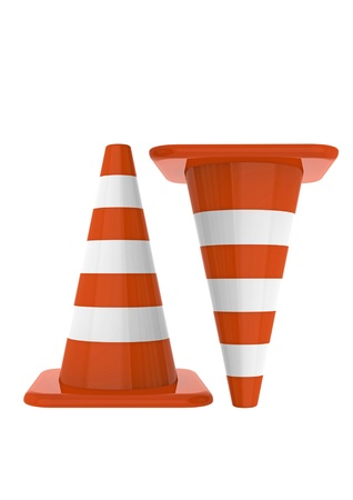 Traffic cones Stock Photo - 10416058