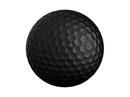 sports equipment: Golf ball-black