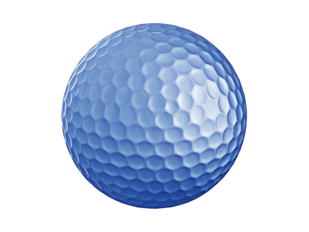 Golf ball-blue Stock Photo - 10416059