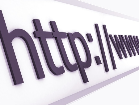 domains: https protected web page with eart background Stock Photo