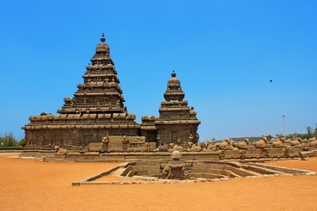 mamallapuram: Shore temple Mahabalipuram, India  Stock Photo