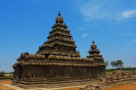 mamallapuram: Shore temple-Relief sculpture,