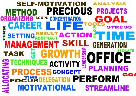 gestion del tiempo: Tiempo concepto de gesti�n de