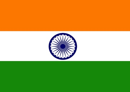 Indian Flag Stock Photo