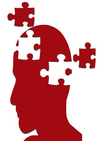disorders: MISSING PIECES MENTAL PUZZLE Stock Photo