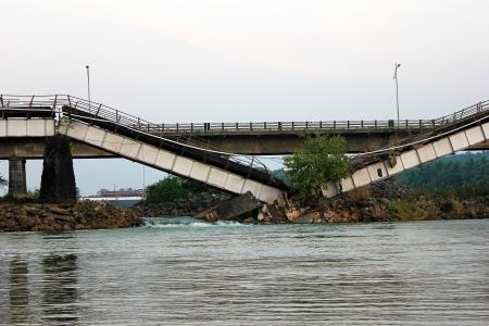 Broken Bridge Stockfoto