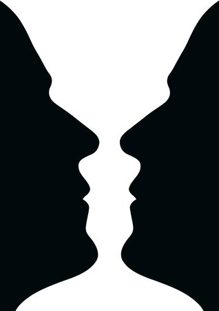 Two human heads or fase Vase Stock Photo - 15747832