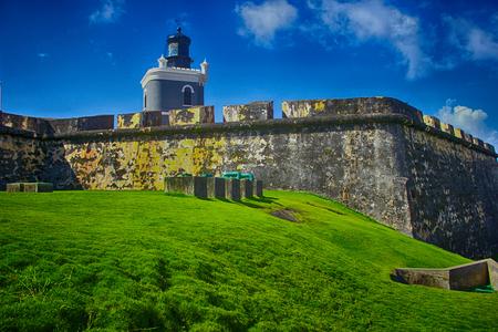 pr: San Juan, Puerto Rico historic Fort San Felipe Del Morro.