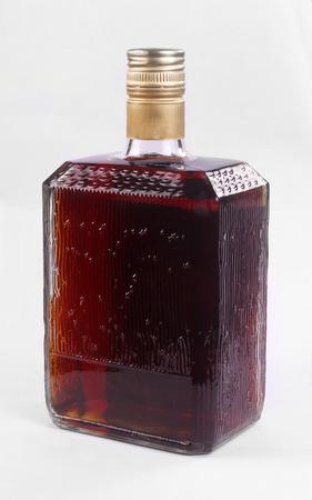 alcoholic beverages isolated on white