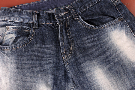 Detail of nice blue jeans Stock Photo