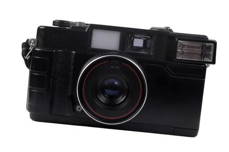 old photo camera isolated on white background
