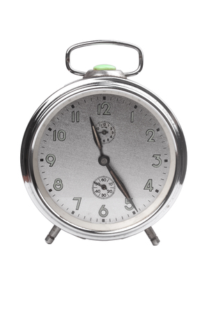 Alarm clock, isolated on the white background
