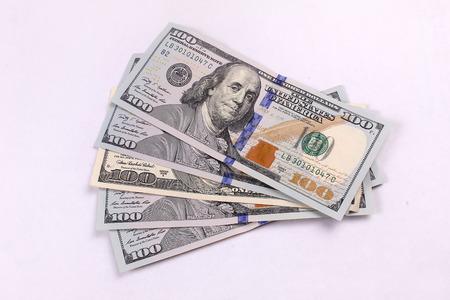 american money: American Money of 100.00 bills piled high Stock Photo
