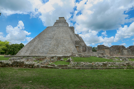 archeological: Uxmal archeological site, mayan ruins in yucatan, mexico Stock Photo