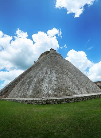 Uxmal archeological site, mayan ruins in yucatan, mexico Stock Photo