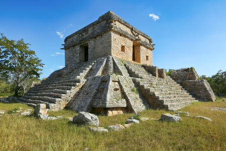 Seven Dolls temple in Dzibilchaltun, Yucatan, Mexico