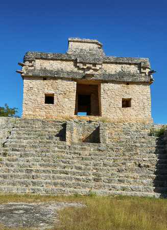Ruins of the ancient Mayan city of Dzibillchaltun, Mexico