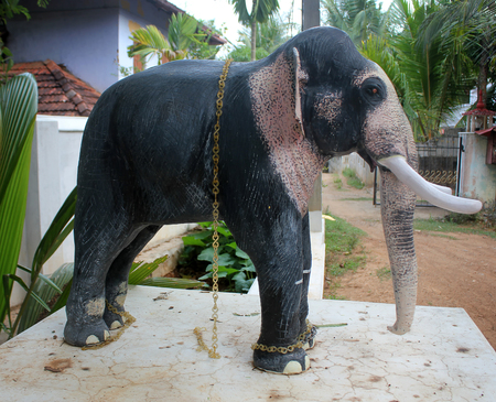 The statue of elephant
